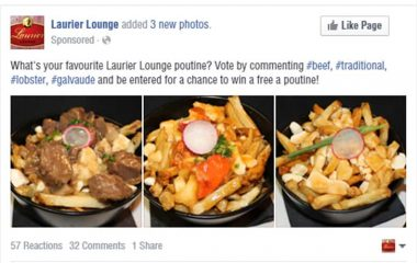 Laurier Lounge Facebook Ad | Turkey Burg Creative