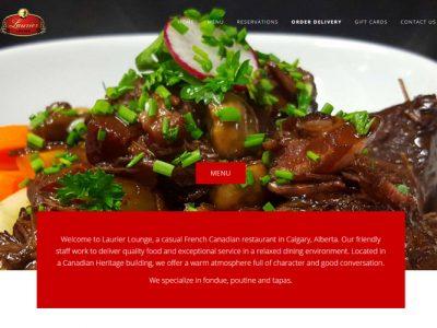 Laurier Lounge Website developed by Turkey Burg Creative