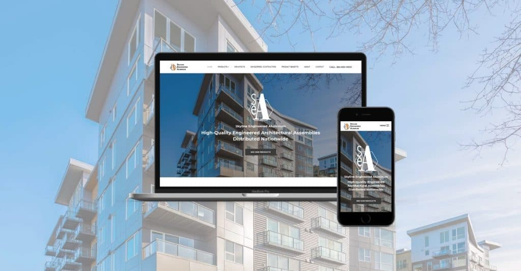 Skyline Engineered Aluminum website development