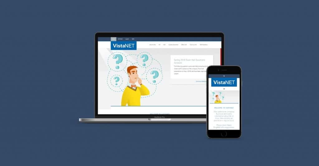 VistaNET intranet development