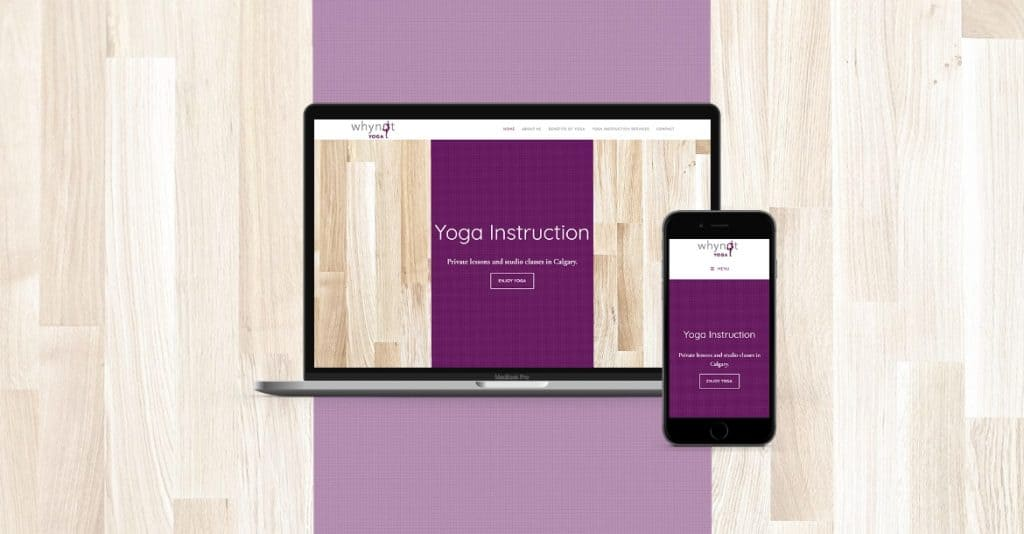 Whynot Yoga Website Development