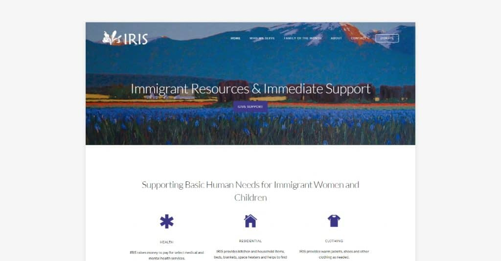 IRIS website hero